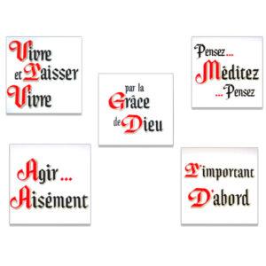 Ensemble de 5 slogans (12 x 12)